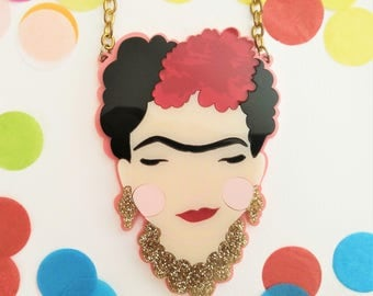 PREORDER* Frida Kahlo perspex necklace