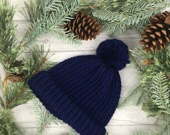 Blue hat, groomsmen gift, mens knitted hats, knitting hat, hat for men, winter hat, knitted hats, adult knit hat, beanie hat, wool knit hat