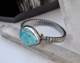 Sky People Collection | Turquoise x Brass x Sterling Silver | Turquoise Vintage Watch III
