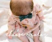 Schoolgirl Bows, Baby Headbands, Newborn Hair Bow, Girls Hair Clips, Felt Baby Bows, Infant, Toddler, Girls, Baby Girl Headband, Nylon, Bow