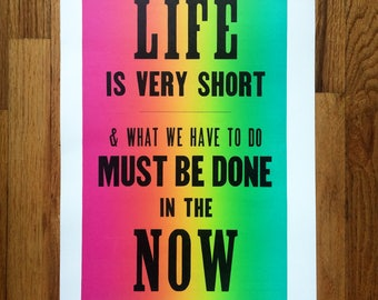 Letterpress Print - Audre Lorde Quote
