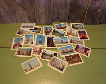 New York Tourist Pictures NYC City Buildings Lakes Vacation Photos Vintage 1970s 70s (S1)