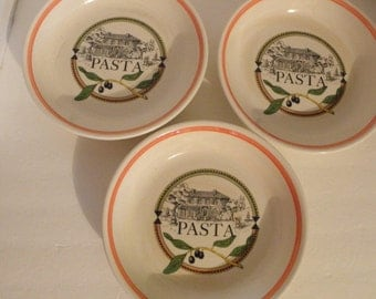 s/3 Pasta Salad Bowls by Himark Italy Olive Branch Design