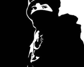 BLACK BLOC Sticker, Revolutionary Anarchist, Activist Protest