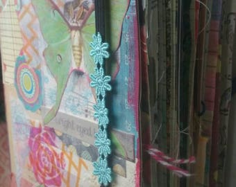 Floral/Nature mixed media junk journal. Mixed paper journal. Price includes USA shipping!