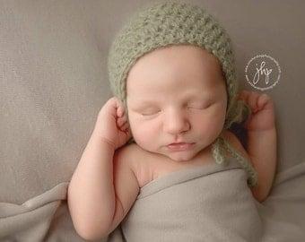 Knit Hat, Knit Baby Hat, Newborn Hat, Newborn Girl, Newborn Boy, Newborn Coming Home, Baby Boy, Baby Girl, Baby Gift, Crochet Hat, Sage