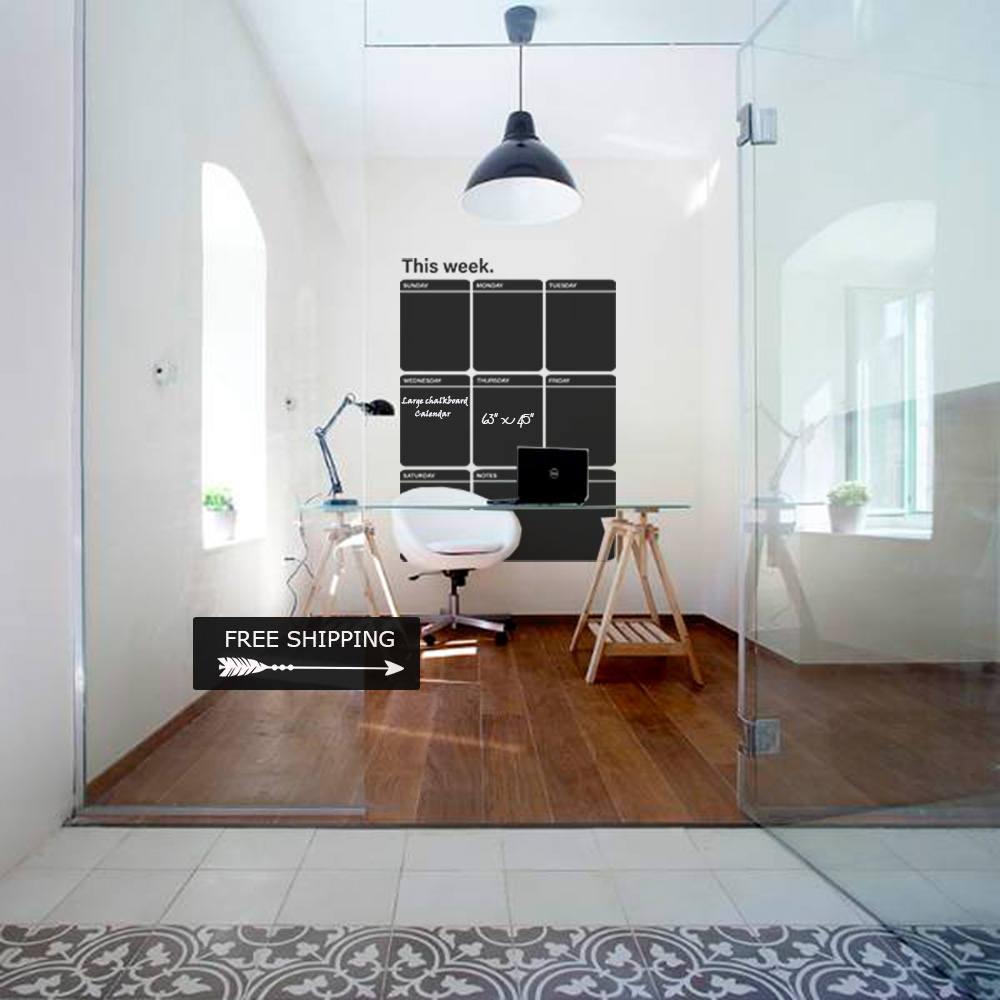 chalkboard office. FREE SHIPPING, Large Chalkboard Calendar, Office Decals, Blackboard Decal, Sticker, E