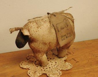 Primitive Sheep, Sheep Bowl Filler, Primitive Animals, Country Farmhouse Decor