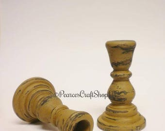 Candle Holder - Made To Order, Primitive Candle Holders, Candlesticks, Country Farmhouse Decor