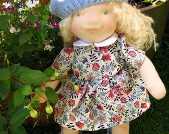 Waldorf doll, Waldorf inspired doll, OOAK doll, 42cm 16.5 inch