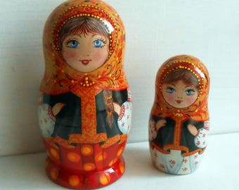 Russian nesting doll Russian dolls matryoshka Nesting dolls wooden  Matryoshka dolls for kids Matryoshka toy Babushka dolls wabi sabi