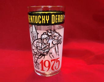 1970s Kentucky Derby Glass 1975 Kentucky Derby Glass Mint Julep Glass