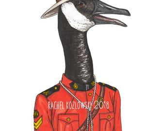Canada Goose - Canadian Mountie - Archival Print