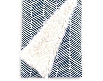 Baby Blanket Navy Freeform Arrows. The Cloud Blanket. Faux Fur Baby Blanket. Minky Blanket. Navy Baby Blanket. Baby Boy Blanket.