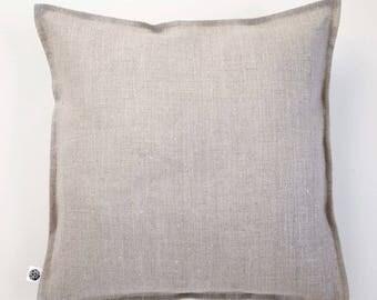 Linen pillow cover, natural linen sham, custom size pillowcase, linen cushion, nautical pillow, linen pillow sham, custom euro sham  0282