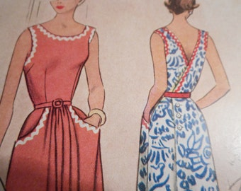 Vintage 1950's McCall 8426 Sports Dress Sewing Pattern Size 18 Bust 36