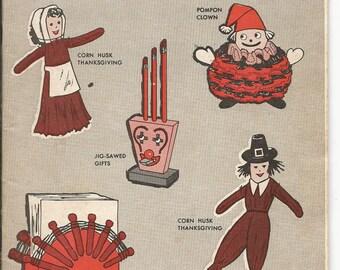 Vintage November 1964 Pack O Fun Craft Magazine Thanksgiving Holiday