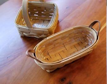 2 Small Vintage Longaberger Baskets