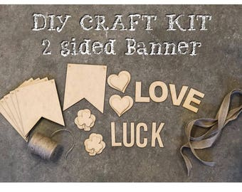 Do it yourself craft etsy valentines day decor diy craft kit valentines day banner do it yourself kit solutioingenieria Image collections