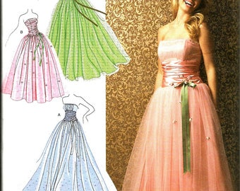 Simplicity 3878 uncut size 4 - 12 Jessica McClintock evening dress