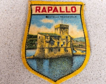 Vintage Rapallo Italy Travel Patch