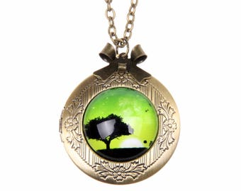 Lucky tree Necklace, Lucky tree locket,  2020m
