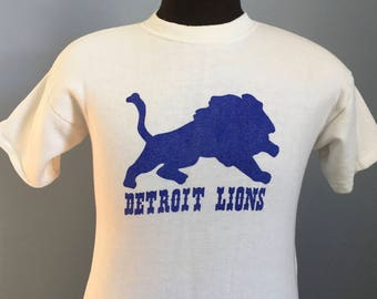 70s 80s Vintage Detroit Lions nfl football sweatshirt T-Shirt - SMALL