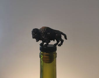 Buffalo Wine Stopper, Buffalo Wine Gift, Wine Gift for Buffalo Collector, Buffalo Bottle Stopper, Wine Stopper, Wine Gift