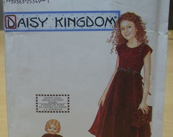 Free shipping! Simplicity 9946 Daisy Kingdom child size 12 14 and matching doll dress sewing pattern UNCUT
