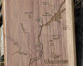 Wisconsin River Map Fly B...