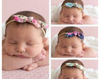 You Pick Baby Headband, Nylon Headbands, Knot Headbands, Top Knot Headbands, Floral Headbands Infant Headband