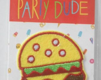 Hamburger Applique Cheeseburger in Paradise Iron On California Burger Iron On Patch New
