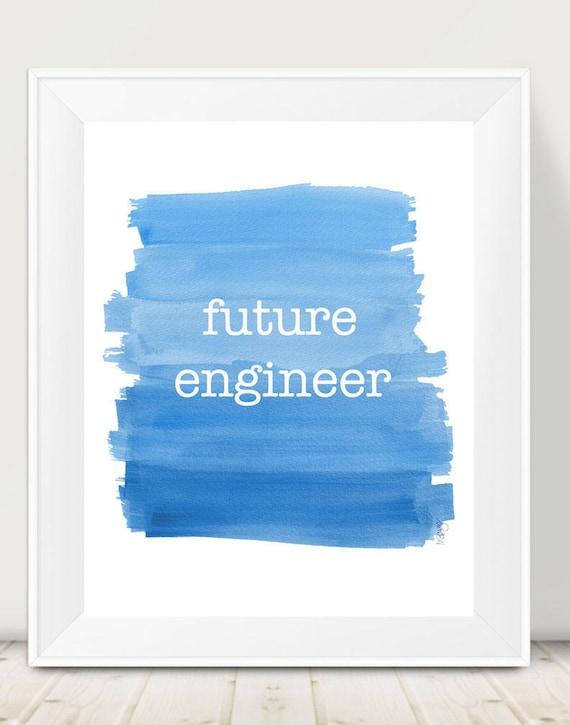 Engineer Print, 11x14, Future Career
