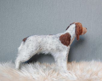 Brittany Dog, Needle Felted Dog, English Springer Spaniel, Brittany Dog, King Charles Spaniel or any other breed - made to order