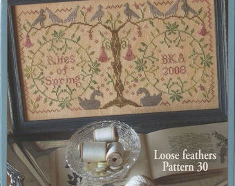 KIT - Rites of Spring by Blackbird Designs - Loose Feathers Club #30 - OOP Kitted Cross Stitch Pattern