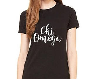 Chi Omega- Sorority Sisters Shirts - Ladies T-shirt - Womens Tee.