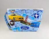 LIMITED EDITION - Ford Mustangs Makeup Bag - Accessory - Cosmetic Bag - Pouch - Toiletry Bag - Gift