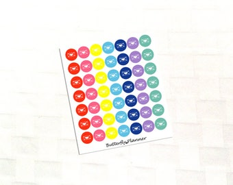 Butterfly Envelope Mutlicolor Icon Stickers, Happy Mail Tracker
