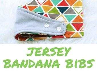 Pick your own JERSEY BANDANA BIBS - reversible bibdana, baby bib, baby shower gift