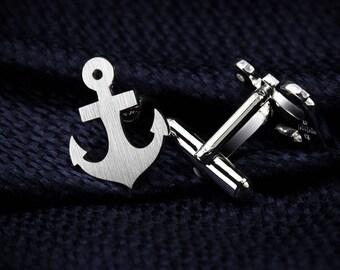 Anchor Cufflinks – Anchor jewerly for men – Navy Cufflinks sterling silver – Beach Wedding Cufflinks for groom