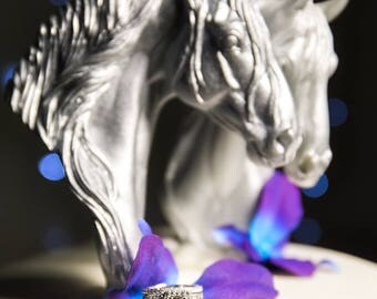 GORGEOUS CUSTOM PAINTED Wedding Cake Toppers Horses