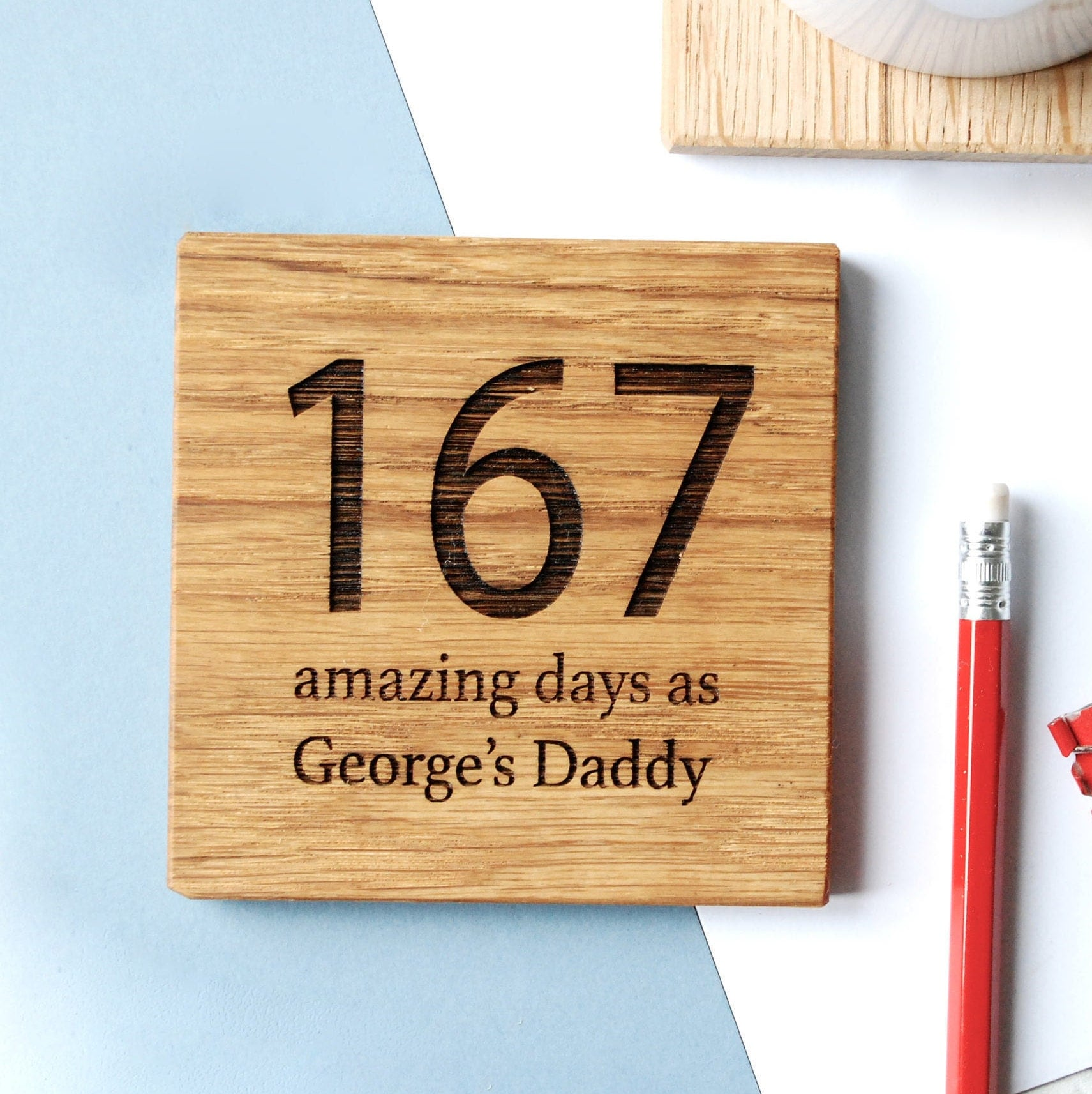 Personalised days as your coaster new dad gift dad 39 s for Thoughtful gifts for dad from daughter