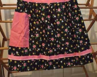 Country Apron Farmhouse Pink Floral Shabby Chic