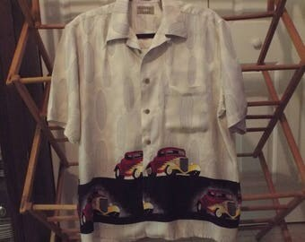 Men's Surf Boards and Roadsters Button Down Shirt
