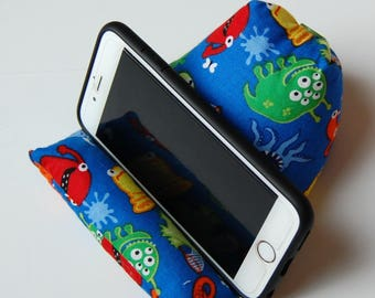 Monsters Phone Holder Beanie for any smart phone or mid-sized tablet or device