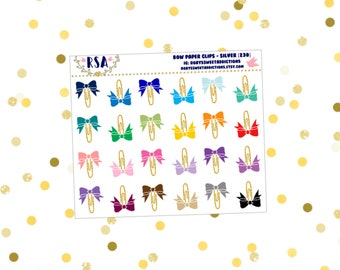 Bow Paper Clips - Gold  {230}