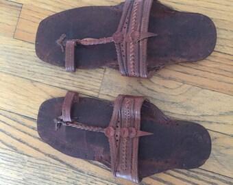 Vintage Handmade Leather Sandals