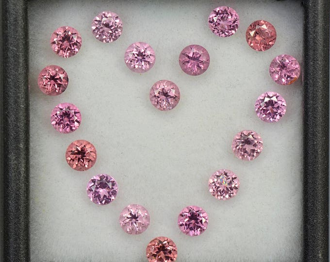 Beautiful Pink Spinel Gemstone Set from Tanzania 3.63 tcw.