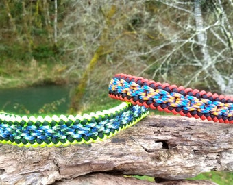 Custom Chainmail Paracord Dog Collar, Choose Your Colors & Closure Type, Thick Strong Dog Collar, Wide Dog Collar, Cute Sight Hound Collar