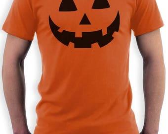 Smiling Pumpkin Face - Easy Halloween Costume Fun T-Shirt